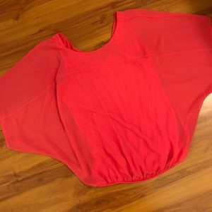 Express Chiffon Dolman Sleeve Top